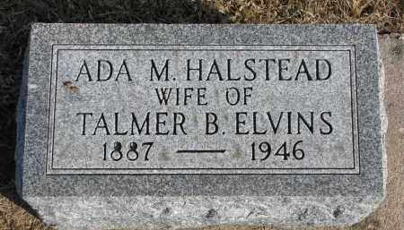HALSTEAD ELVINS, ADA M. - Burt County, Nebraska | ADA M. HALSTEAD ELVINS - Nebraska Gravestone Photos