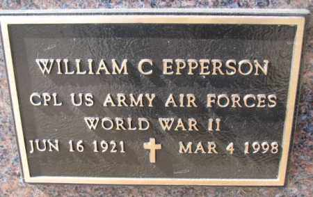 EPPERSON, WILLIAM C. (WW II) - Burt County, Nebraska | WILLIAM C. (WW II) EPPERSON - Nebraska Gravestone Photos