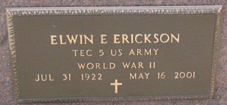 ERICKSON, ELWIN E. MILITARY) - Burt County, Nebraska | ELWIN E. MILITARY) ERICKSON - Nebraska Gravestone Photos