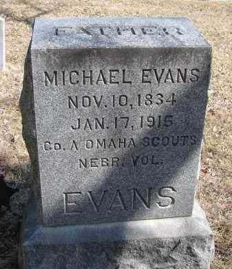 EVANS, MICHAEL (INDIAN SCOUT) - Burt County, Nebraska | MICHAEL (INDIAN SCOUT) EVANS - Nebraska Gravestone Photos