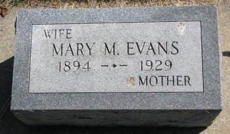 EVANS, MARY M. - Burt County, Nebraska | MARY M. EVANS - Nebraska Gravestone Photos