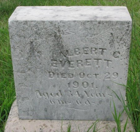 EVERETT, ALBERT C. - Burt County, Nebraska | ALBERT C. EVERETT - Nebraska Gravestone Photos