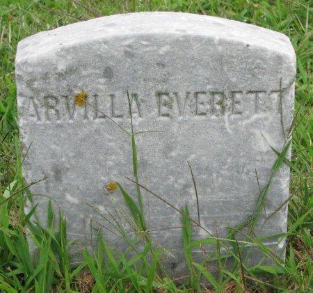 EVERETT, ARVILLA (FOOT STONE) - Burt County, Nebraska   ARVILLA (FOOT STONE) EVERETT - Nebraska Gravestone Photos