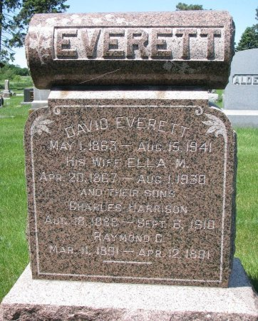 EVERETT, CHARLES HARRISON - Burt County, Nebraska | CHARLES HARRISON EVERETT - Nebraska Gravestone Photos