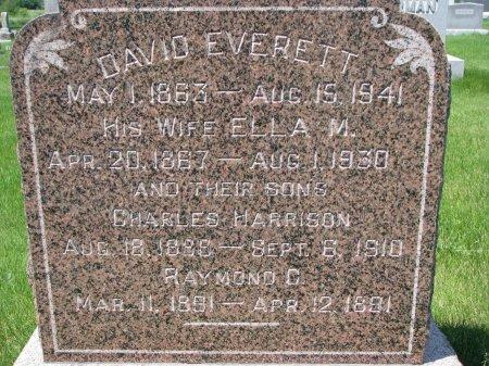 EVERETT, ELLA M. (CLOSE UP) - Burt County, Nebraska | ELLA M. (CLOSE UP) EVERETT - Nebraska Gravestone Photos