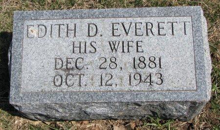 EVERETT, EDITH D. - Burt County, Nebraska   EDITH D. EVERETT - Nebraska Gravestone Photos