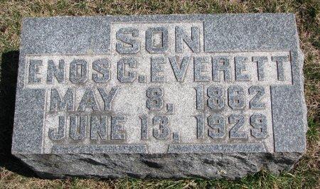 EVERETT, ENOS C. - Burt County, Nebraska | ENOS C. EVERETT - Nebraska Gravestone Photos