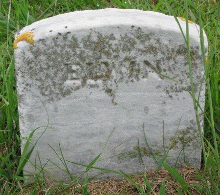 EVERETT, ELWIN (FOOT STONE) - Burt County, Nebraska | ELWIN (FOOT STONE) EVERETT - Nebraska Gravestone Photos