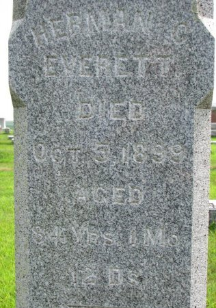 EVERETT, HERMAN C. (CLOSE UP) - Burt County, Nebraska | HERMAN C. (CLOSE UP) EVERETT - Nebraska Gravestone Photos