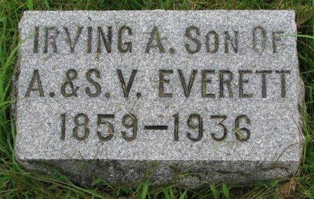 EVERETT, IRVING A. - Burt County, Nebraska   IRVING A. EVERETT - Nebraska Gravestone Photos