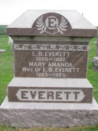 EVERETT, MARY AMANDA - Burt County, Nebraska | MARY AMANDA EVERETT - Nebraska Gravestone Photos