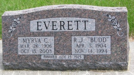 EVERETT, MYRVA C. - Burt County, Nebraska | MYRVA C. EVERETT - Nebraska Gravestone Photos