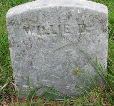 EVERETT, WILLIE D. (FOOT STONE) - Burt County, Nebraska | WILLIE D. (FOOT STONE) EVERETT - Nebraska Gravestone Photos