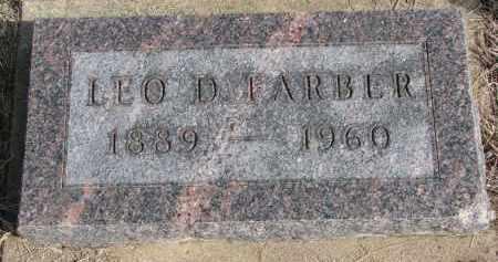 FARBER, LEO D. - Burt County, Nebraska   LEO D. FARBER - Nebraska Gravestone Photos