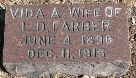 FARBER, VIDA A. - Burt County, Nebraska   VIDA A. FARBER - Nebraska Gravestone Photos
