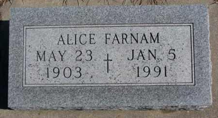FARNAM, ALICE - Burt County, Nebraska | ALICE FARNAM - Nebraska Gravestone Photos