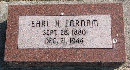 FARNAM, EARL H. - Burt County, Nebraska | EARL H. FARNAM - Nebraska Gravestone Photos