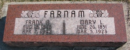 FARNAM, MARY L. - Burt County, Nebraska | MARY L. FARNAM - Nebraska Gravestone Photos