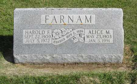 FARNAM, ALICE M. - Burt County, Nebraska | ALICE M. FARNAM - Nebraska Gravestone Photos