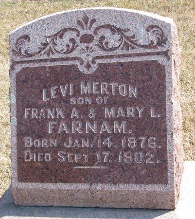 FARNAM, LEVI MERTON - Burt County, Nebraska | LEVI MERTON FARNAM - Nebraska Gravestone Photos
