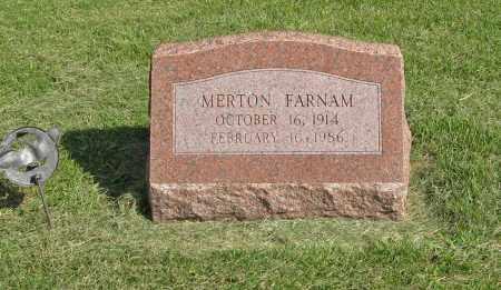 FARNAM, MERTON - Burt County, Nebraska | MERTON FARNAM - Nebraska Gravestone Photos