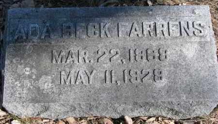 FARRENS, ADA - Burt County, Nebraska | ADA FARRENS - Nebraska Gravestone Photos