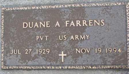 FARRENS, DUANE A. (MILITARY) - Burt County, Nebraska | DUANE A. (MILITARY) FARRENS - Nebraska Gravestone Photos