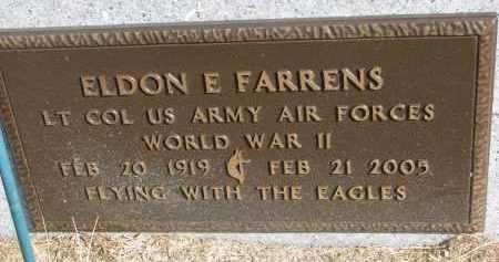 FARRENS, ELDON E. (WW II) - Burt County, Nebraska | ELDON E. (WW II) FARRENS - Nebraska Gravestone Photos