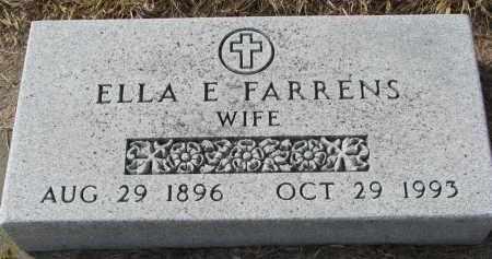 FARRENS, ELLA E. - Burt County, Nebraska | ELLA E. FARRENS - Nebraska Gravestone Photos