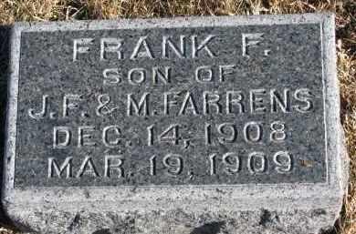 FARRENS, FRANK F. - Burt County, Nebraska | FRANK F. FARRENS - Nebraska Gravestone Photos