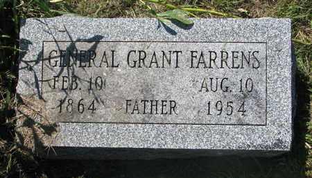 FARRENS, GENERAL GRANT - Burt County, Nebraska   GENERAL GRANT FARRENS - Nebraska Gravestone Photos