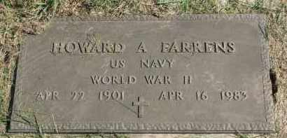 FARRENS, HOWARD A. (WW II) - Burt County, Nebraska   HOWARD A. (WW II) FARRENS - Nebraska Gravestone Photos