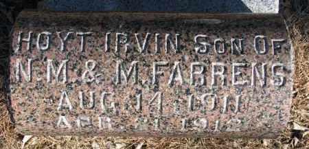 FARRENS, HOYT IRVIN - Burt County, Nebraska | HOYT IRVIN FARRENS - Nebraska Gravestone Photos