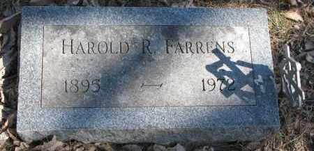 FARRENS, HAROLD R. - Burt County, Nebraska | HAROLD R. FARRENS - Nebraska Gravestone Photos