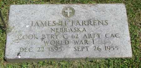 FARRENS, JAMES H. - Burt County, Nebraska | JAMES H. FARRENS - Nebraska Gravestone Photos