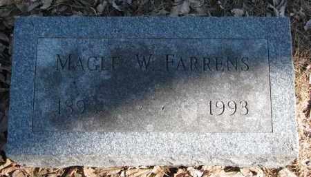 FARRENS, MAGLE W. - Burt County, Nebraska | MAGLE W. FARRENS - Nebraska Gravestone Photos
