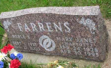 FARRENS, MERLE S. - Burt County, Nebraska | MERLE S. FARRENS - Nebraska Gravestone Photos
