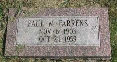 FARRENS, PAUL M. - Burt County, Nebraska   PAUL M. FARRENS - Nebraska Gravestone Photos
