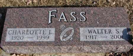 FASS, WALTER S. - Burt County, Nebraska | WALTER S. FASS - Nebraska Gravestone Photos