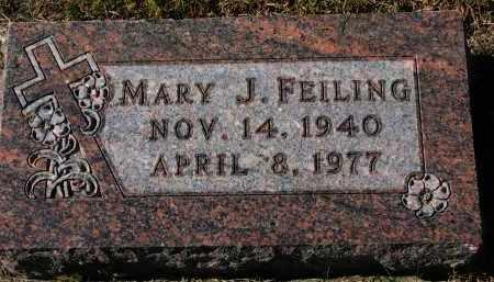 FEILING, MARY J. - Burt County, Nebraska   MARY J. FEILING - Nebraska Gravestone Photos