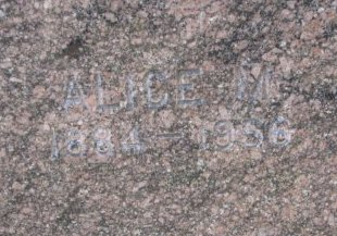 FERGUSON, ALICE M. (CLOSE UP) - Burt County, Nebraska | ALICE M. (CLOSE UP) FERGUSON - Nebraska Gravestone Photos
