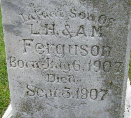 FERGUSON, INFANT SON (CLOSE UP) - Burt County, Nebraska | INFANT SON (CLOSE UP) FERGUSON - Nebraska Gravestone Photos