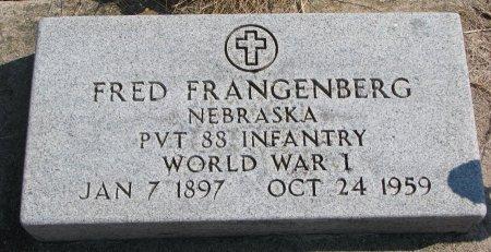 FRANGENBERG, FRED - Burt County, Nebraska | FRED FRANGENBERG - Nebraska Gravestone Photos