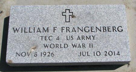 FRANGENBERG, WILLIAM F. - Burt County, Nebraska | WILLIAM F. FRANGENBERG - Nebraska Gravestone Photos