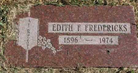 FREDERICKS, EDITH F. - Burt County, Nebraska | EDITH F. FREDERICKS - Nebraska Gravestone Photos