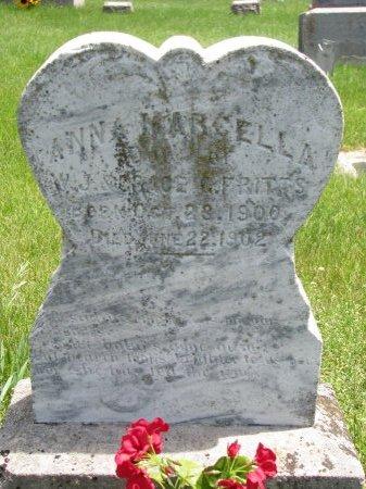 FRITTS, ANNA MARCELLA - Burt County, Nebraska   ANNA MARCELLA FRITTS - Nebraska Gravestone Photos
