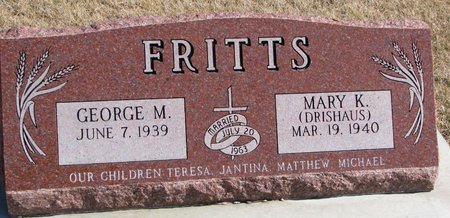 FRITTS, GEORGE M. - Burt County, Nebraska | GEORGE M. FRITTS - Nebraska Gravestone Photos