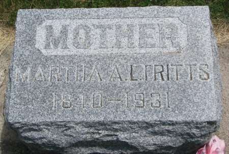 FRITTS, MARTHA A.L. - Burt County, Nebraska | MARTHA A.L. FRITTS - Nebraska Gravestone Photos