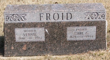 FROID, VERNIE - Burt County, Nebraska | VERNIE FROID - Nebraska Gravestone Photos