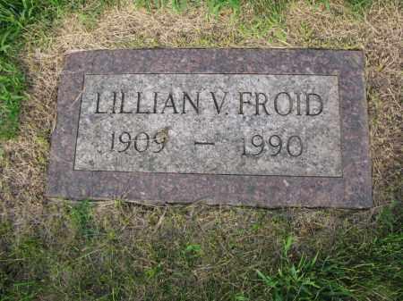 FROID, LILLIAN V. - Burt County, Nebraska | LILLIAN V. FROID - Nebraska Gravestone Photos